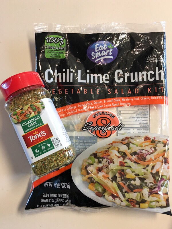 Chili Lime Crunch Salad Kit thegestationaldiabetic.com