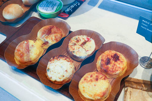 6 sous vide egg bites from starbucks
