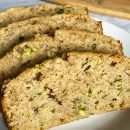 4 slices of lower carb zucchini bread